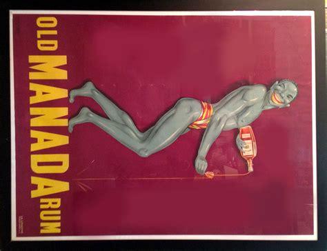 Armchair Cinema French Art Deco Poster Old Manada Rum Modernism