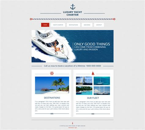 Yachting Wix Website Template 47285 Wix Business Website Template