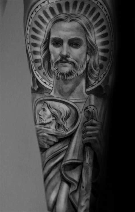 40 st jude tattoo designs for men religious ink ideas