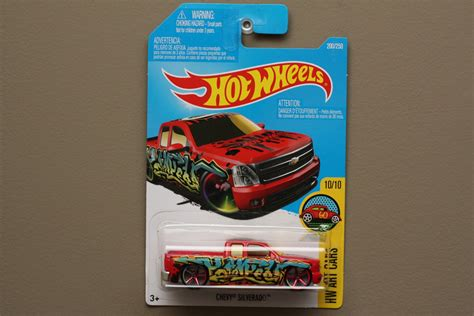 Hotwheels Chevy Silverado Us Card wheels 2016 hw cars chevy silverado