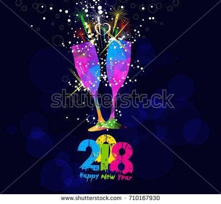 happy new year glassy design happy new year 2018 greeting card or poster design with
