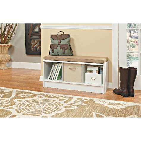 closetmaid bench white closetmaid cubeicals 3 cube storage bench white target
