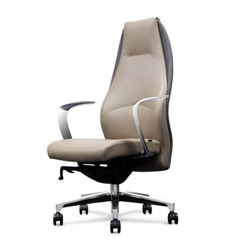 gray leather executive office chair wrigley genuine leather aluminum base high back executive
