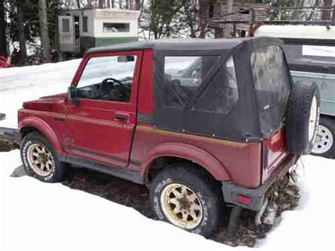 Suzuki Soft Top 4x4 Sell Used 1987 Suzuki Samurai 4x4 5 Speed Soft Top On