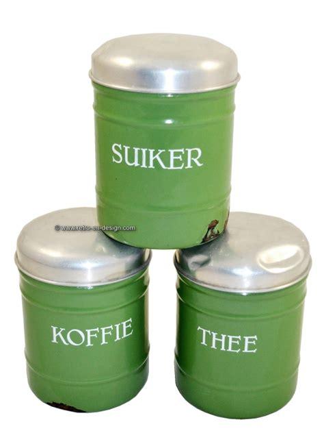kã che kaffee zucker kanister brocante emaille kanister f 252 r kaffee und zucker