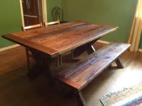 Dining table reclaimed barnwood dining table