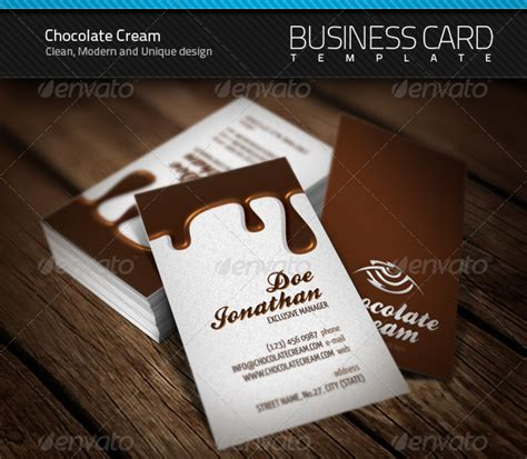 chocolate business card by artnook graphicriver