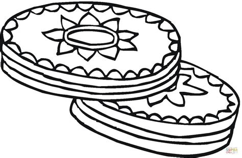 coloring pages of biscuit the coloriage biscuits au chocolat coloriages 224 imprimer