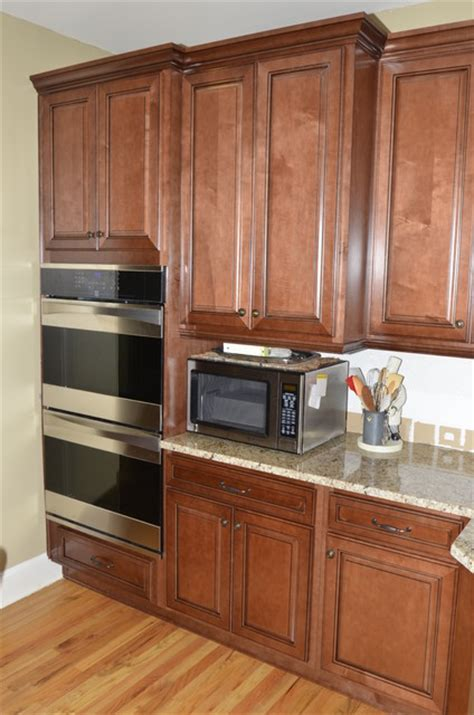 Medium Maple Cabinets by Medium Stained Glazed Maple Traditional Kitchen