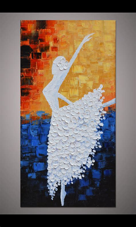 acrylic paint walls painted ballerina painting wall picture