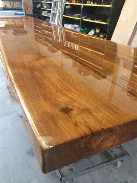 oak table top  transparent epoxy epoxy wood table