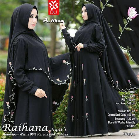 Gamis Almeda Syari Black miftah shop distributor supplier tangan pertama baju hijabers onlineshop konveksi baju