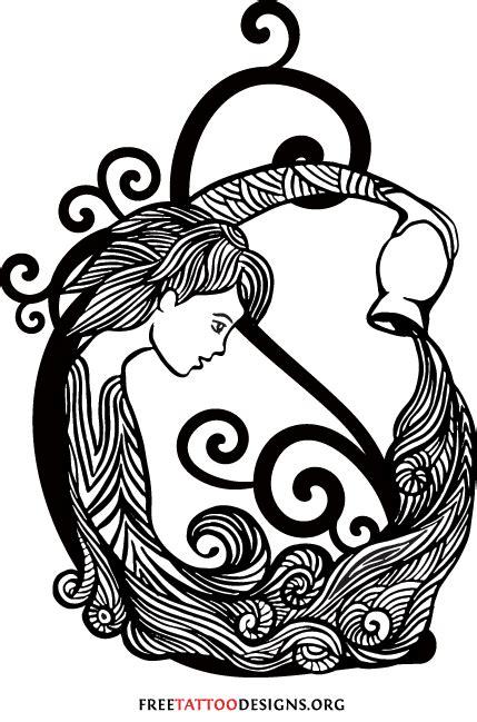 aquarius zodiac tattoo designs aquarius images designs