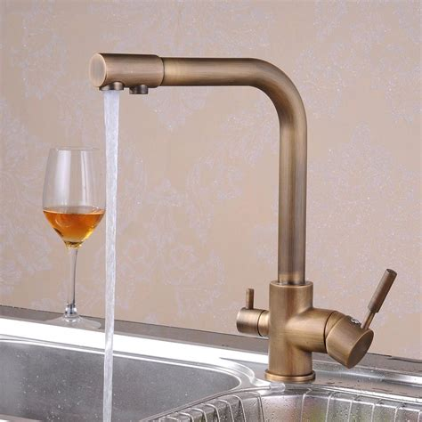 Sink Filter Faucet by Free Shipping Retail Promotion Antique Brass Kitchen Sink