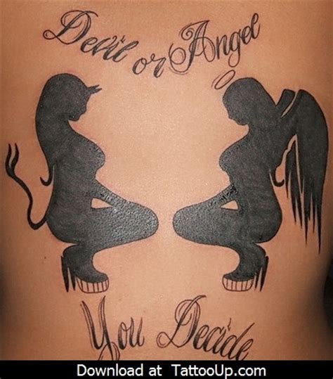 devil and angel tattoo angel tattoo angel tattoo