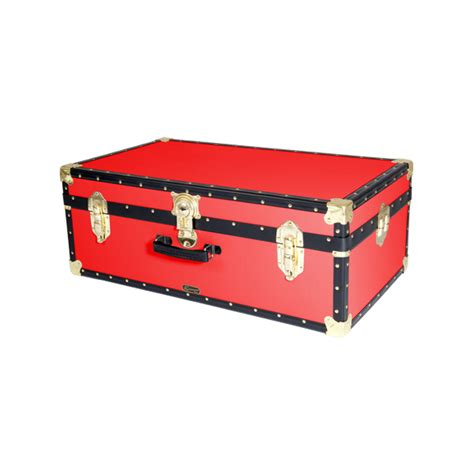 luggage trunks 33 quot hand luggage trunk red mossman trunks