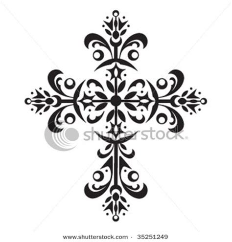 filigree cross tattoo filigree cross for woodburning wood burning