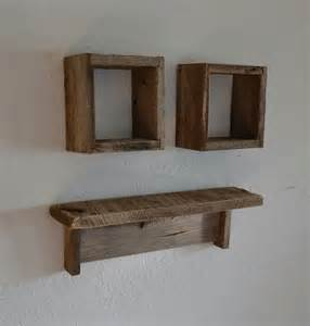 Wood Wall With Shelves Reclaimed Wood Shadow Boxes And Wood Wall Shelf