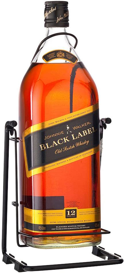 black label swing whisky johnnie walker black label with box swing 4 5 l