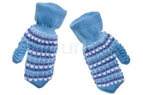 cold winter season wool clothing human mitten stock