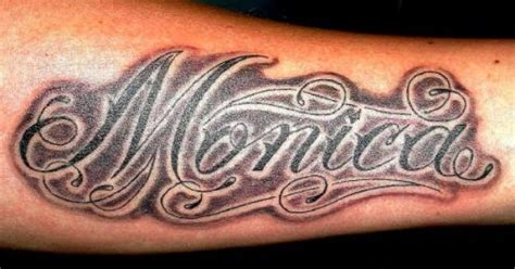 monica tattoos the name images miss sanz a