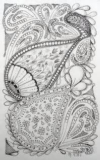 Free Adult Art Therapy Coloring Pages Zentangle Coloring Page
