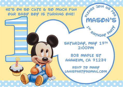 mickey mouse birthday invitation template best template
