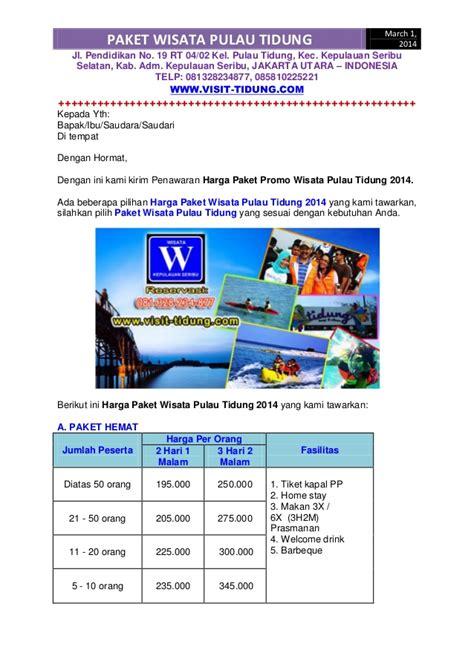 Paket Promo 19 by Harga Paket Promo Wisata Pulau Tidung 2014 Terbaru