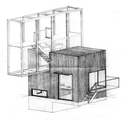 architecture drawing drawing architecture house a troels skov carlsen