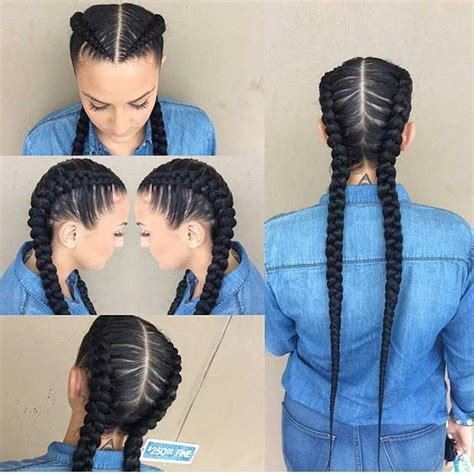 2 Braids In Front Hair Down Hairstyle Long Natural Hair | 21 trendy braided hairstyles to try this summer long