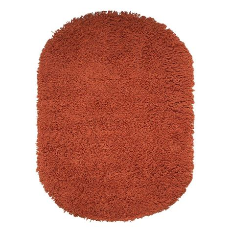 oval shag rug home decorators collection ultimate shag orange 5 ft x 7 ft oval area rug 7575490570 the