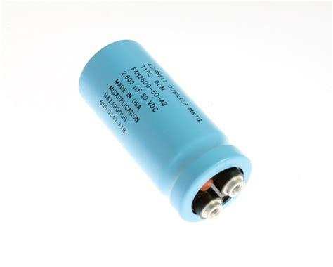 cornell dubilier aluminum electrolytic capacitors fah2600 50a2 cornell dubilier cde capacitor 2 600uf 50v aluminum electrolytic large can