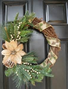 rustic evergreen and burlap christmas wreath the ribbon