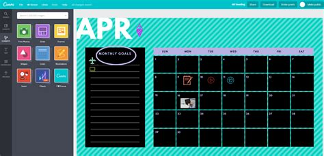 design calendar canva printable calendar for pdf
