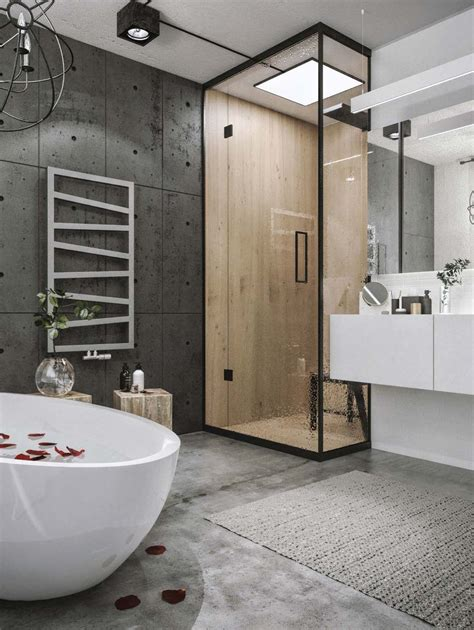 Modern Style Bathroom by Chic Industrial Loft In Lithuania Gets Modern Updates