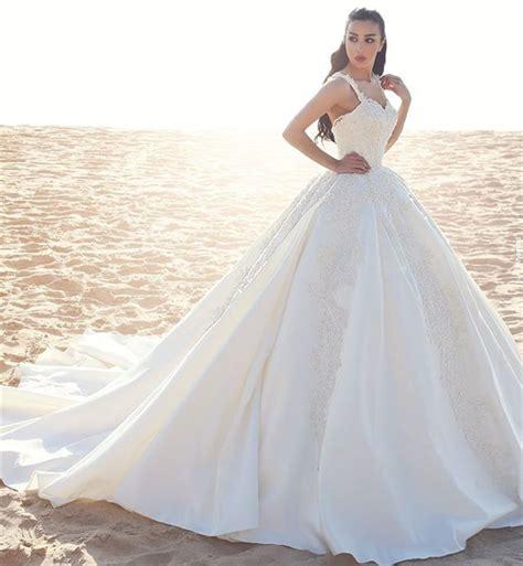 Hochzeitskleid Mit Schleppe by Prinzessin Hochzeitskleider Creme Mit Spitze Tr 228 Ger