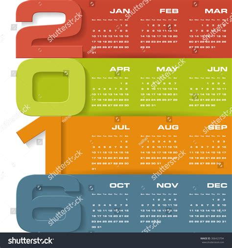 layout calendar design 2016 simple design calendar 2016 year vector design template