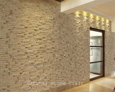 brown brick wall tiles for small house interior design interior stone wall home design