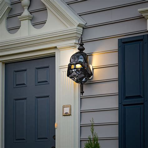 Porch Spotlights darth vader and stormtrooper porch light covers