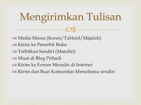menulis di media massa dan media online humaniora park workshop creative writing idhar resmadi
