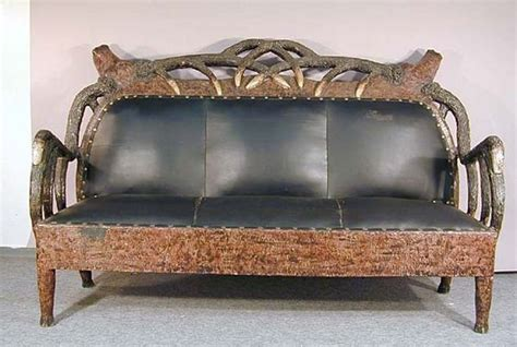 deer sofa carved sofa in the design of deer trophies realm of