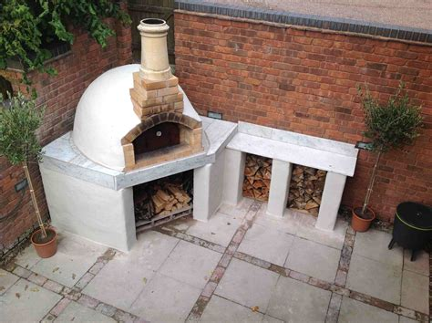backyard wood fired pizza oven outdoor pizza ovens with stucco finish forno bravo