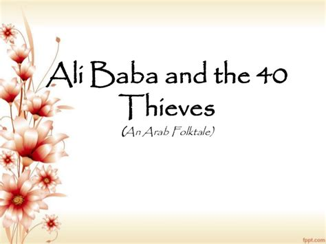 alibaba story ali baba and the 40 thieves elements of story