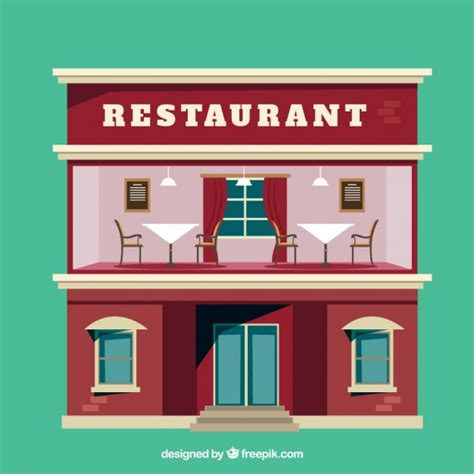 clipart ristorante restaurant flat illustration vector free