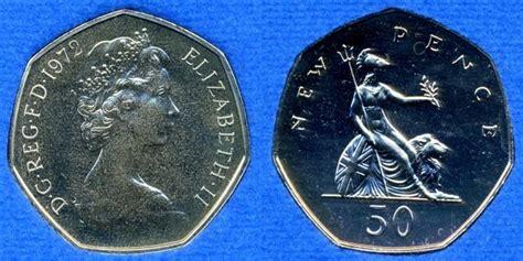 Koin Elizabeth Ll Dg Reg Fd uk decimal coins fifty pence