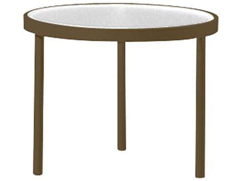 Tropitone Patio Table Tropitone Cast Aluminum 20 Obscure End Table 8082g