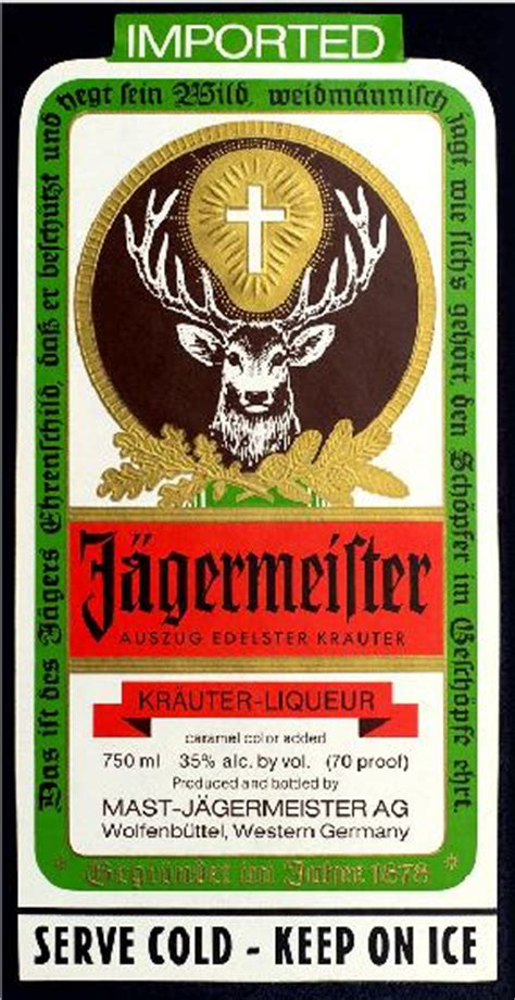 Alcohol Drug Decals Jagermeister Label Decal Sticker Jagermeister Label Template