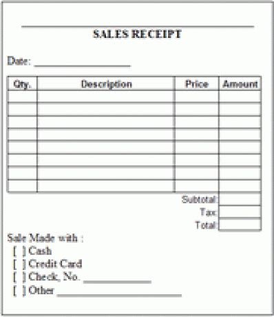 sales receipt template for furniture 6 free sales receipt templates excel pdf formats