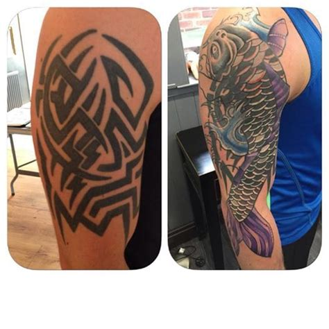 tattoo of us nathan great cover up by nathan even over this terrible tribal