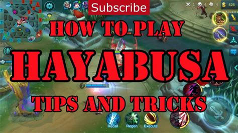tutorial hayabusa mobile legends how to play hayabusa tips and tricks youtube